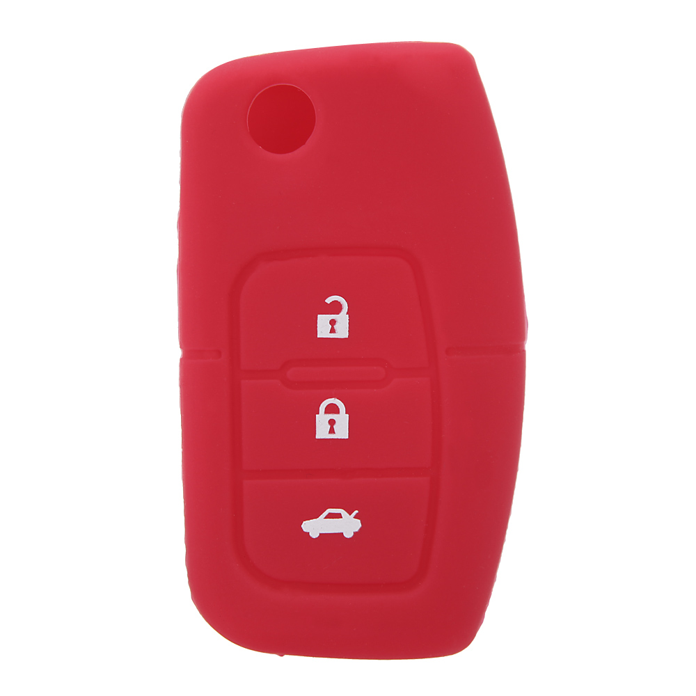 Silicone Car Auto Remote Fob Key Holder Case Cover for Ford Focus Fiesta Professional  Car key Replacement