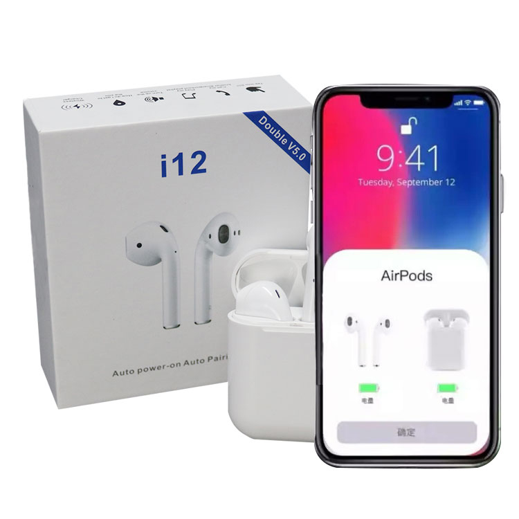 i12 tws bt mini version 5.0 bass Siri hifi auricular audifonos blue tooth earphone wireless earbuds With Touch Function