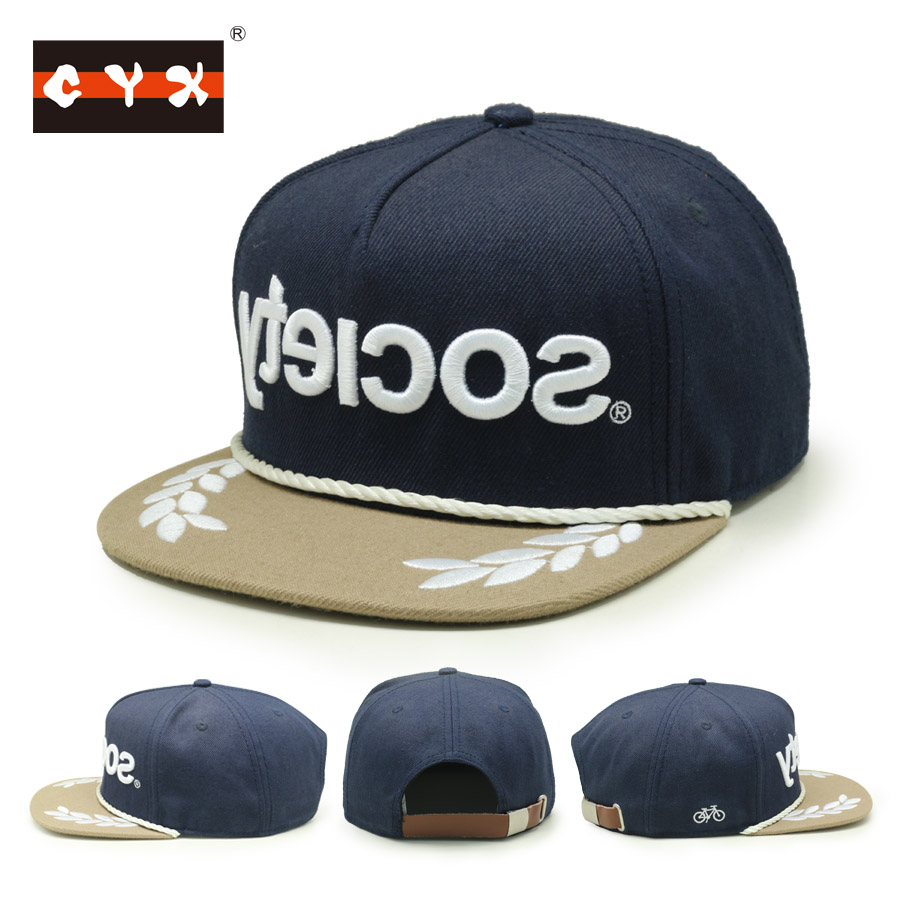 f8edb361cd1 Custom Embroidery Snapback Rope Hat