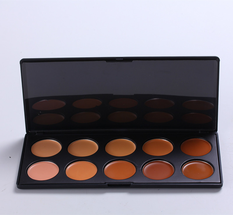 Makeup contour palette 10 color face <strong>cosmetic</strong> concealer cream palette