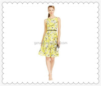 Latest Dress New York Collection Pleated Combo A-Line Dress