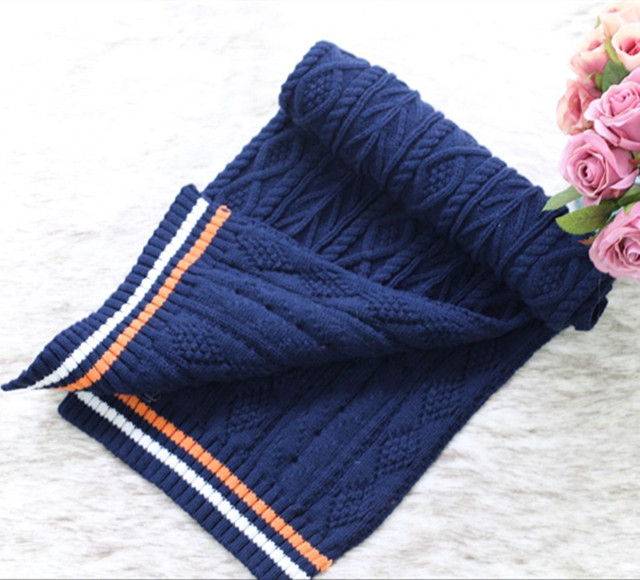 2018 acrylic knit winter fashion russian scarf