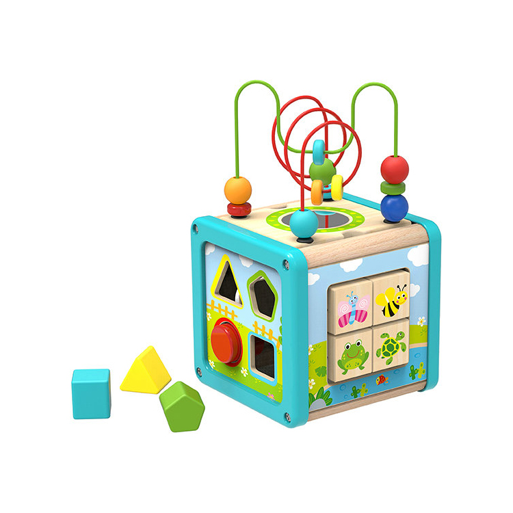 New Animal design Wooden Play Cube Game for kids