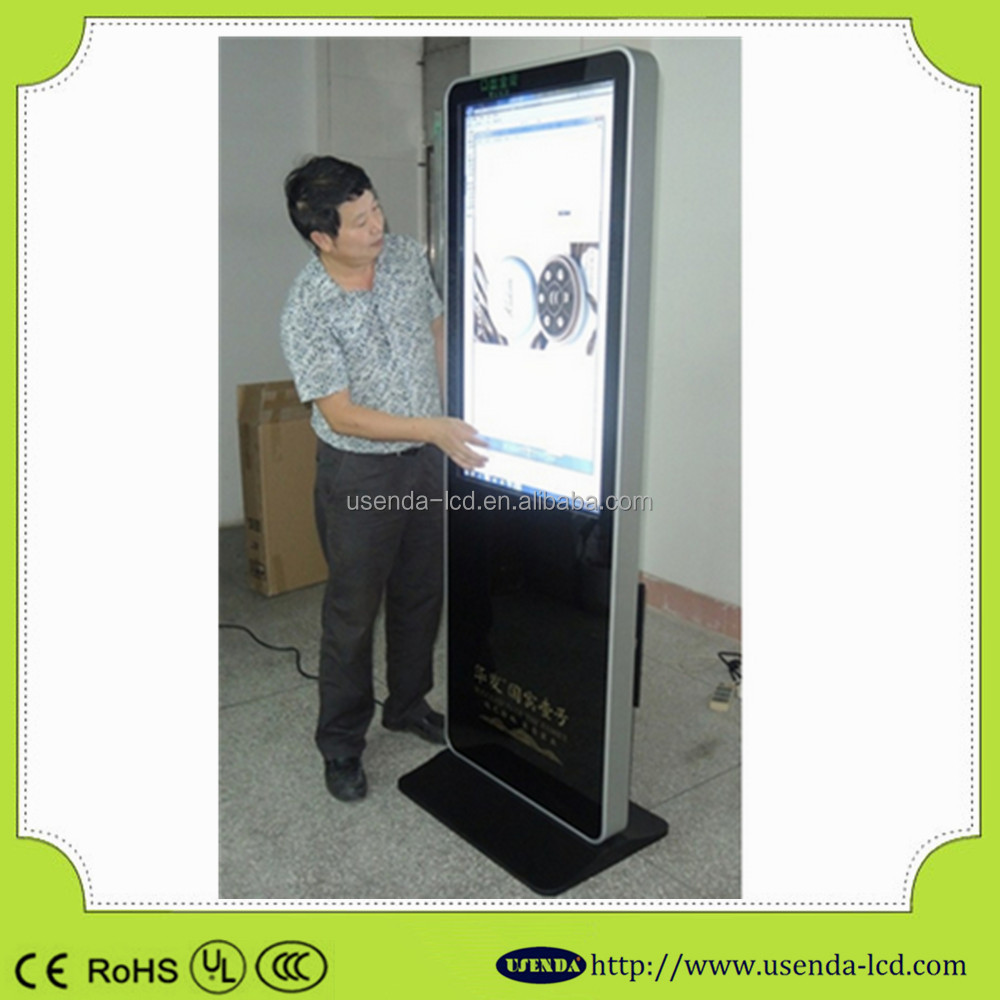 46inch interactive lcd network touch table;LED display advertising cheap touch screen monitor