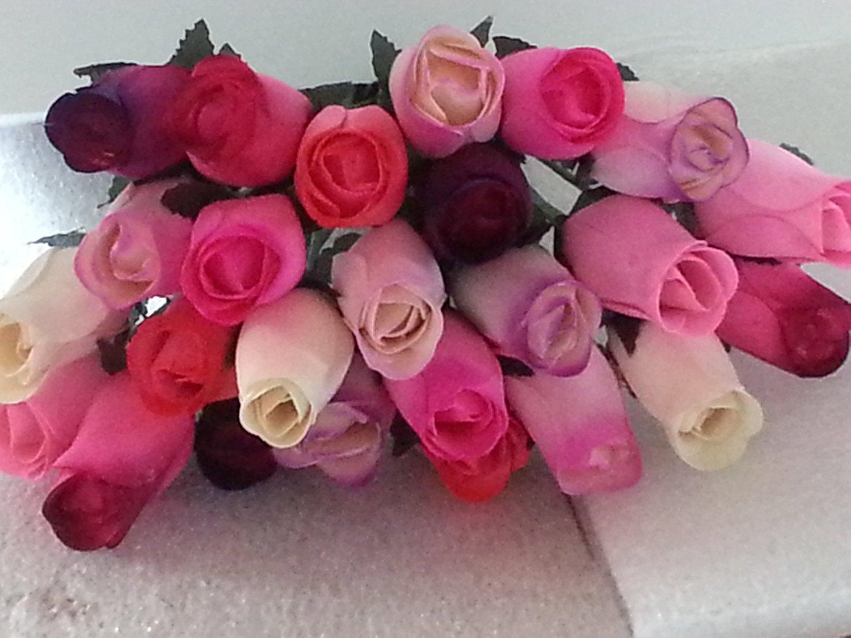 Buy 2 Dozen Wooden Roses Mixture Of 8 Colors Little Chicago