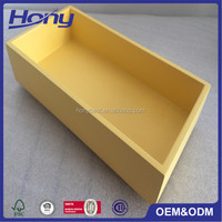 Stained Yellow Wood Tea Packaging Storage Box,Fancy Decorative MDF Gift Box