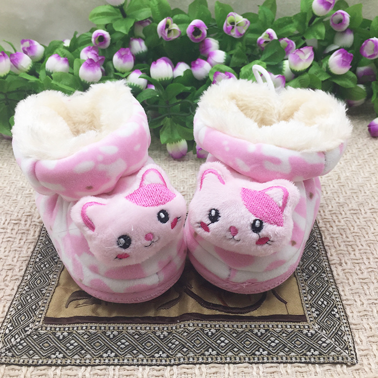 Warm Baby Girl Princess Shoes Sweety Cotton Winter Toddler Baby First Walker Shoes xxl