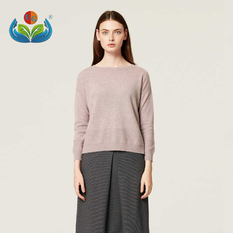 Knitwear Long sleeve design 100% pure cashmere sweaters for ladies
