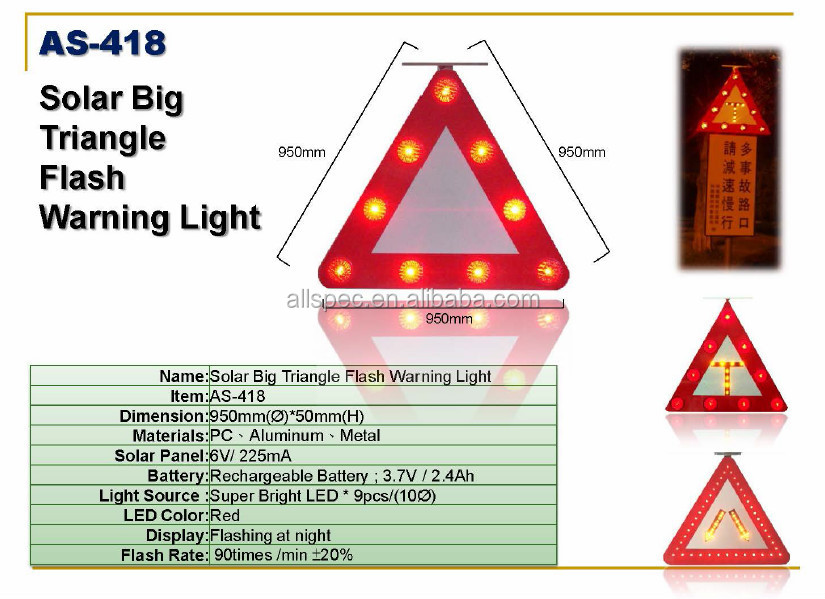 Direction Solar Power Led Road Flashing Sign Board Traffic Road ...
