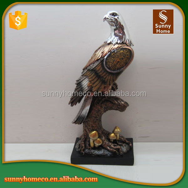 Shop decoration life size animal resin eagle statue