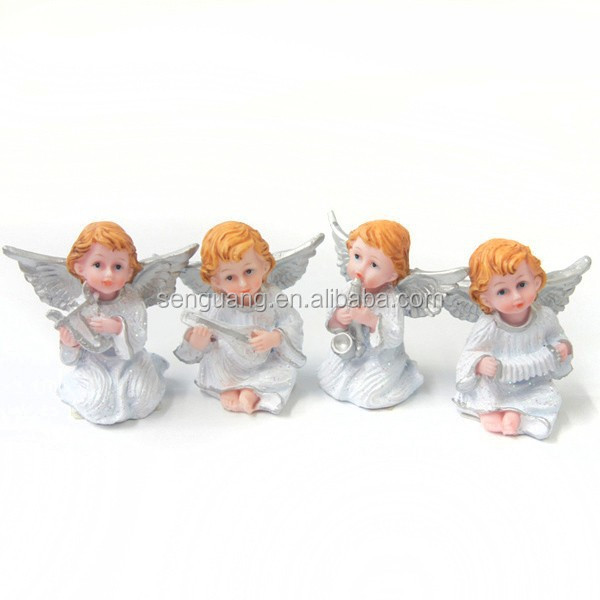 little angel statues, religious angel statues with instrument
