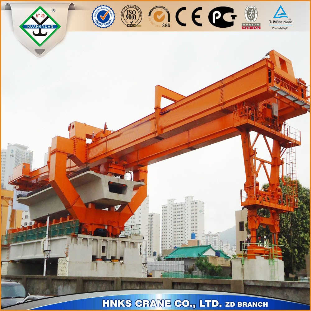 trusseed type bridge launching crane erecting machine for High Speed Way