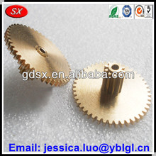 ISO/ROHS/SGS passed custom made brass/bronze/copper double spur toy gear,electric toy car gears