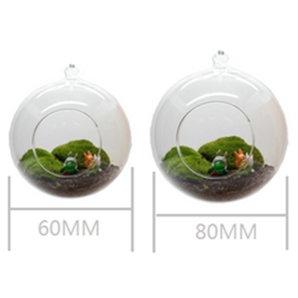Decoratie glazen pot metalen staande helder glazen bol for Blumentopf glas