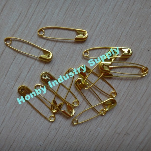 000# Gold Metal Safety Pin for Garment Accessory