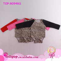Bulk Wholesale High Quality Baby Kids Clothing Baby Girl Romper Boutique Leopard Onesie Baby Grow Blank Infant Rompers Bodysuit