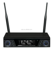 Wireless UHF PLL double channel headset microphone PA system KM-200