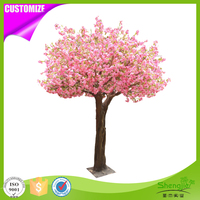 Romantic style 3m artificial indoor silk Japanese cherry blossom tree for wedding decoration
