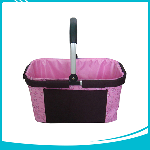 Hot selling family outdoor zipper pocket empty picnic baskets wholesale