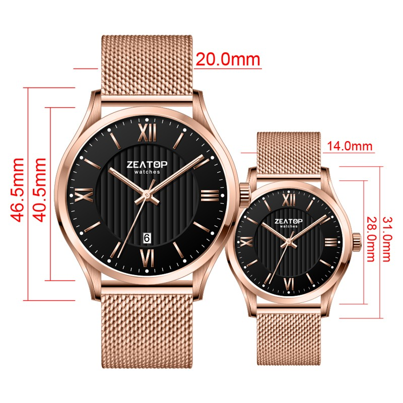 Latest Unisex Japan Movt Men's Watch Wristwatches