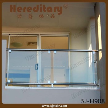 Indoor Balcony Railing Designs Glass Clamp Stainless Steel Glass ...