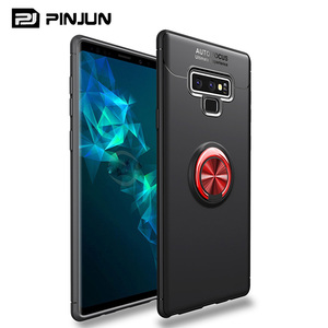2 in 1 oil paint dual layer hybrid shock absorption armor case for samsung galaxy note 9 case stand cover