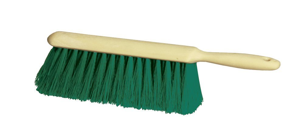 "Milwaukee Dustless Brush, 8"" Bench brush, green polypropylene, plastic handle"