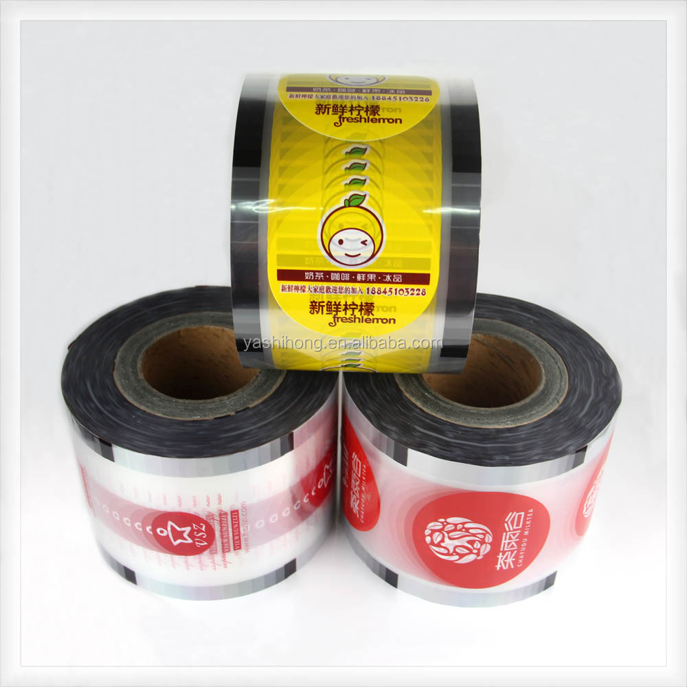 customized Hot sale PP Paper Cup lid cover Sealing Roll Film for milk tea cup