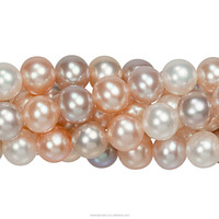 Cultured Raw Material for Jewelry Good Luster Freshwater Pearl Loose for Sale Natural Round Pearl