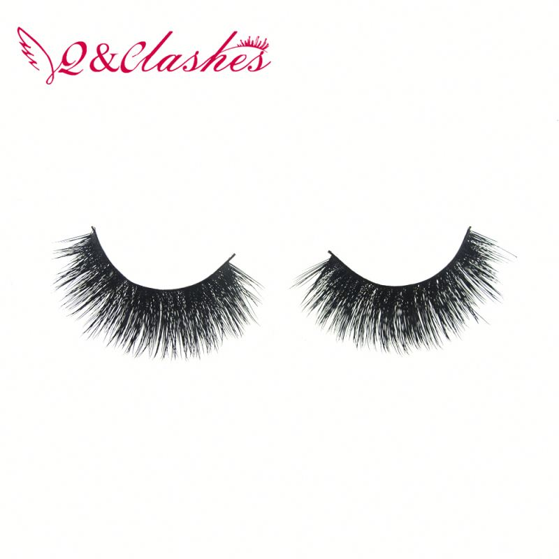 private label individual 100% 3D hand made mink false eyelashes