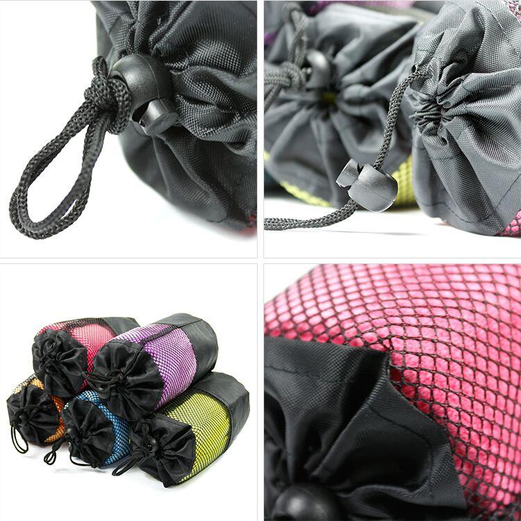 New design custom 400gsm microfiber sport towel with bag