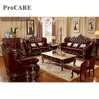 2018 new designs leather wooden sofa set with coffee table