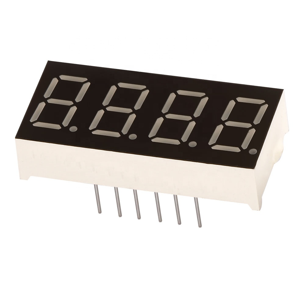 "0.36/"" 4 Digit 7-Segment LED Display DIP Common Anode Red"