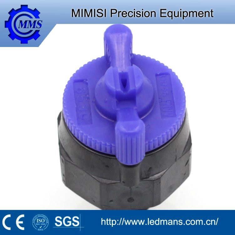 MMS customize plastic nozzle jet easily dismantling Hollow cone/full cone flat fan nozzle