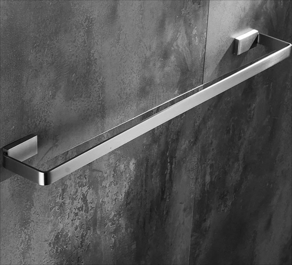 ZBB Towel rack towel rack/multi-function printer SUS304 stainless steel towel holder towel storage bathroom wall towel racks, towel rails for bath rooms (size: 500mm)