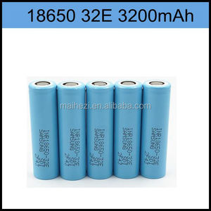 Superior samsung 18650 li-ion battery cell Samsung 18650-32E 3.7v flashlight battery with longer cycle life