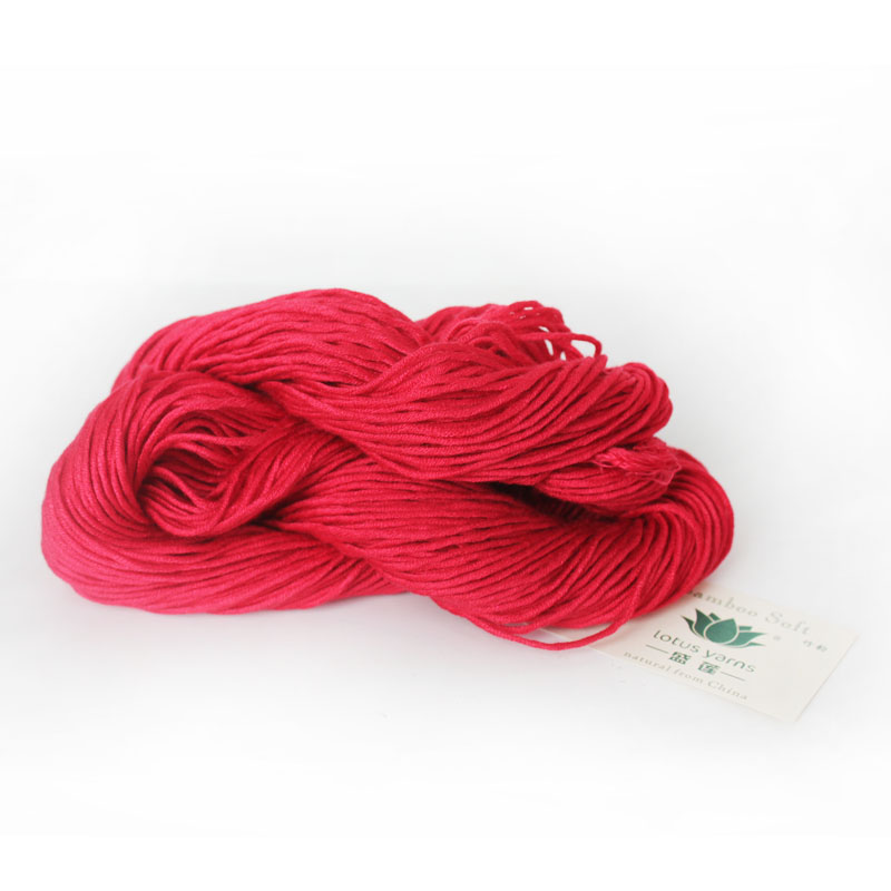 Wholesale 100% natural hand knit bamboo yarn multi color space dye cotton