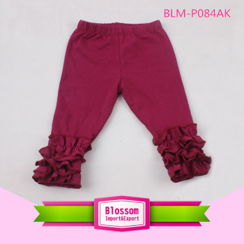 Wholesale Cheap Kids baby Ruffle Pants Girls Icing Triple Ruffles Pants