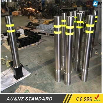 Stainless Steel Car Park Pole Barrier Hydraulic System Safety Road