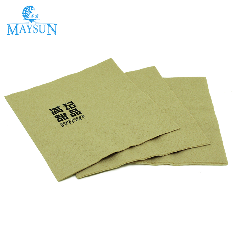 New Product Best Quality Formal Folded Logo Serviette Gold Paper Napkins