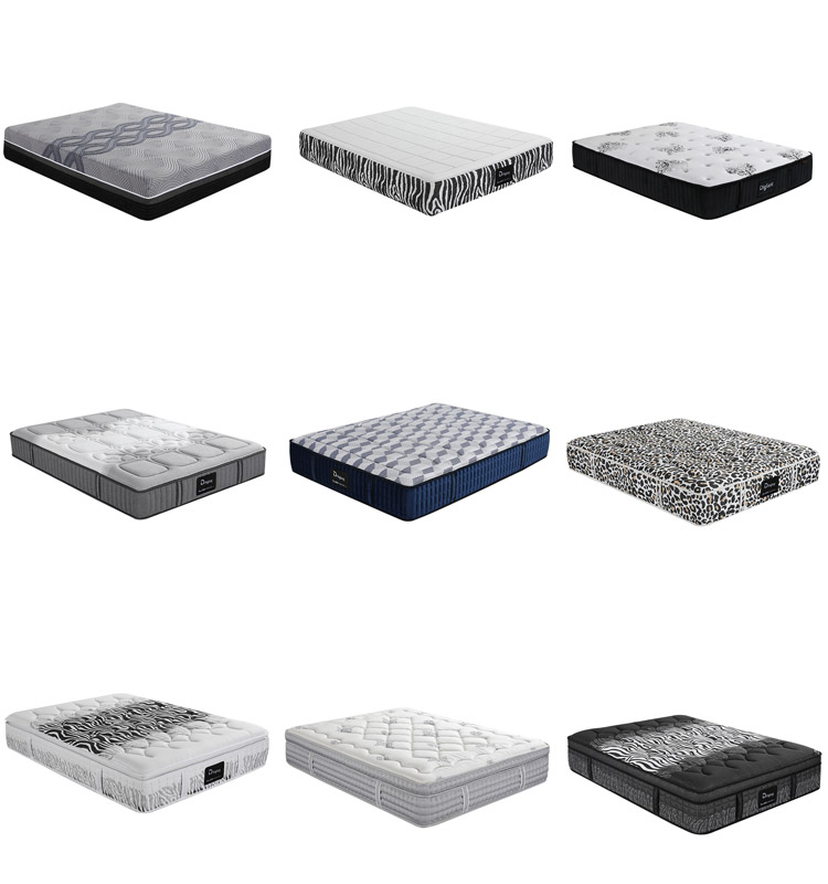 JE-A1032 Diglant furniture Memory Foam Latest Double Single Bed Fabric hotel mattress with continuous spring - Jozy Mattress | Jozy.net
