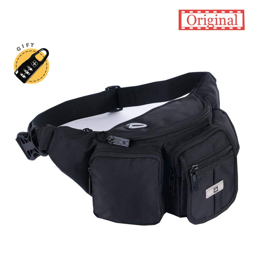 bc8bd2273d9b Vance Leather Magnetic Motorcycle Tank Bag/Fanny Pack with Three ...