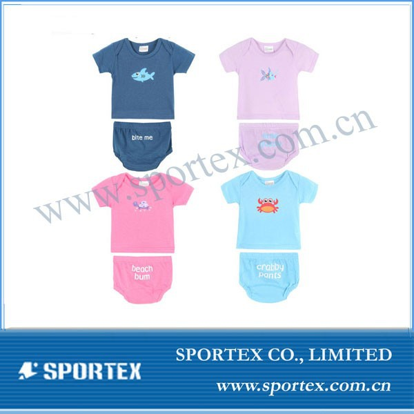 infant wear for girls, Crabby pants marine baby summer suit, Baby tees underwear#YR-21