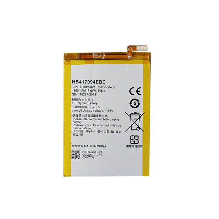 Factory Direct Parts 4100 mAh cell-phone battery pack HB417094EBC for Huawei mate 7