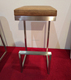 Woonden skin like seats bar stool used commercial bar stool Stainless steel fixed bar stool design