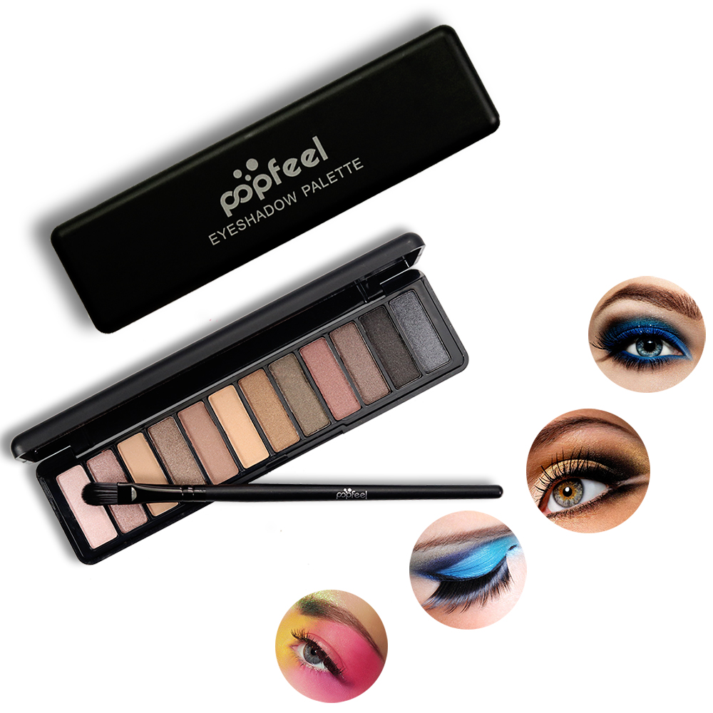 Free <strong>sample</strong> 12 color <strong>makeup</strong> palette eyeshadow with private label