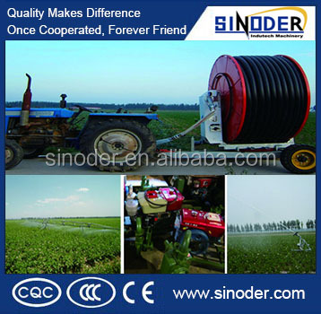 sale Farmland Hose Reel Irrigation Machine, Double Sprinkler Guns Hose Reel Irrigation Machine Equipment,irrigation system
