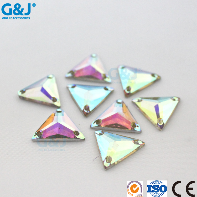 Guojie wholesale custom hot high quality flatback acylic crystal rhinestone beads plastic gem stone cheap synthetic diamond