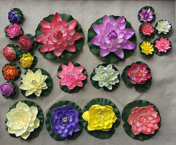 Luckygoods factory wholesale fake floating flowers for pools