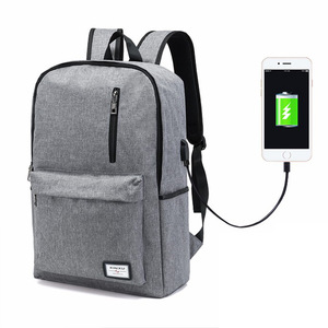 OEM USB Charging Shoulder Bag Men and Women Fashion Mochila Travelling Bag Lightweight School Bookbags Smart Laptop Backpack